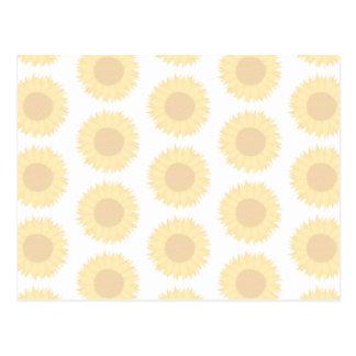 Pale Sunflower Background Pattern. Postcard