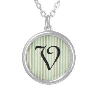 Pale teal and cream stripes jewelry