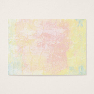 Pale textured pastel business card