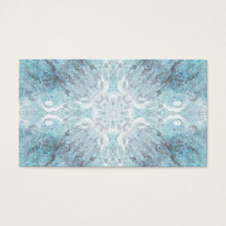 Pale Turquoise Pattern, with Some Soft Shapes. Business Card