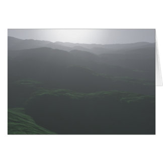 Pale View of Hills Greeting Card
