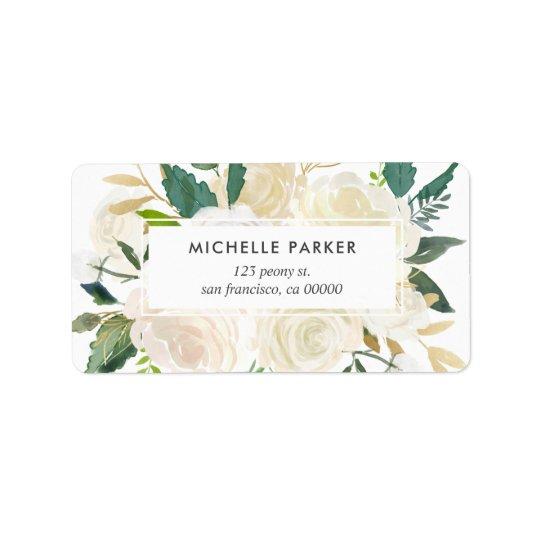 Pale Watercolor Floral Return Address Label