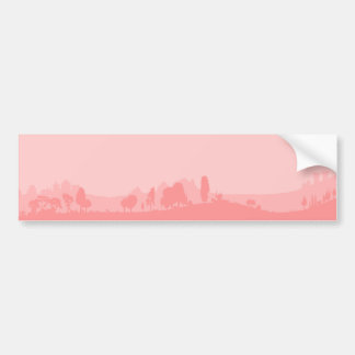 Pale Wooded Foreground Bumper Sticker