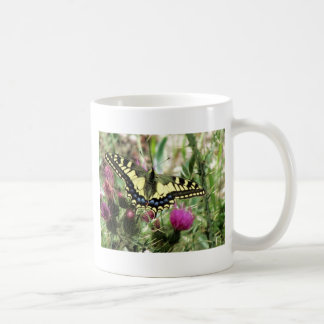 Pale Yellow and Blue Butterfly Mug