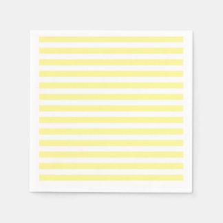 Pale Yellow and White Stripes Disposable Napkin