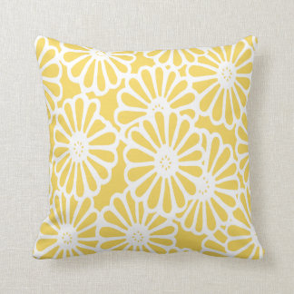Pale Yellow Asian Moods Floral Cushion