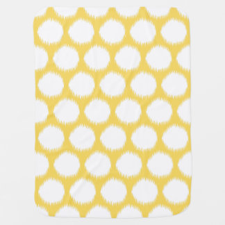 Pale Yellow Asian Moods Ikat Dots Baby Blanket