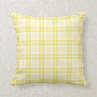 Pale Yellow Check Pillow