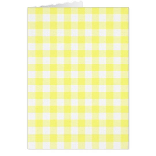 Pale Yellow Gingham Card