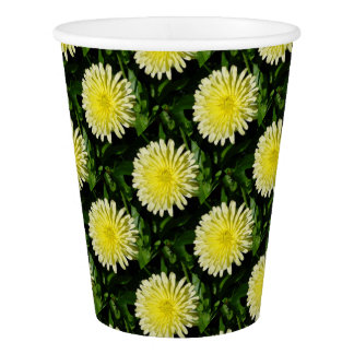 Pale Yellow Mary Bud Marigold Paper Cup