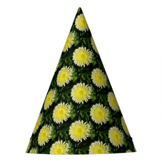 Pale Yellow Mary Bud Marigold Party Hat