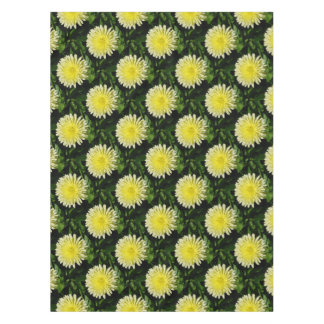 Pale Yellow Mary Bud Marigold Tablecloth