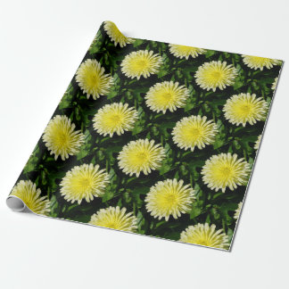 Pale Yellow Mary Bud Marigold Wrapping Paper