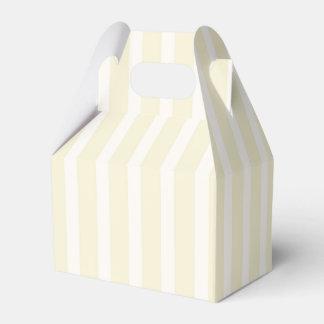 Pale Yellow Neutral Soft Stripes Favour Box
