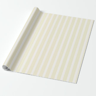 Pale Yellow Neutral Soft Stripes Wrapping Paper