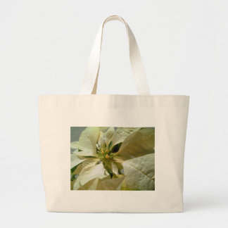 Pale Yellow Poinsettia 1 Large Tote Bag