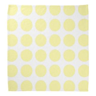 Pale Yellow Polka Dots Bandanna
