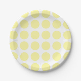 Pale Yellow Polka Dots Paper Plates