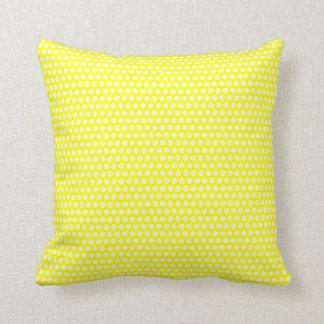 Pale Yellow Polka Dots Throw Pillow