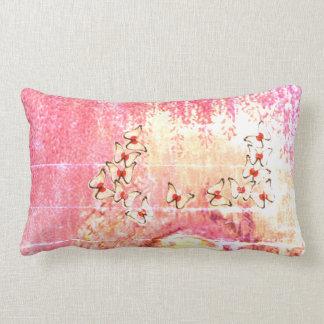 Pale Yellow Weeping Tree Lumbar Cushion
