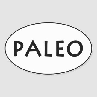 Paleo Oval Sticker
