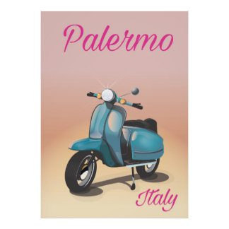 Palermo Italy Scooter poster