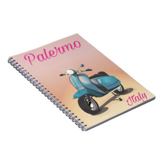 Palermo Italy Scooter poster Notebooks