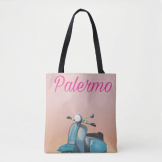Palermo Italy Scooter poster Tote Bag