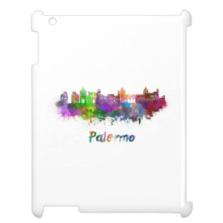 Palermo skyline in watercolor cover for the iPad 2 3 4