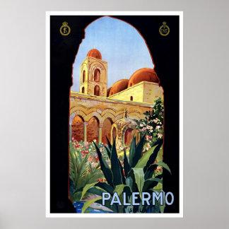 """Palermo"" Vintage Travel Poster"