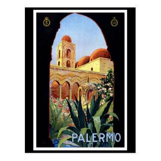 """Palermo"" Vintage Travel Poster Postcard"