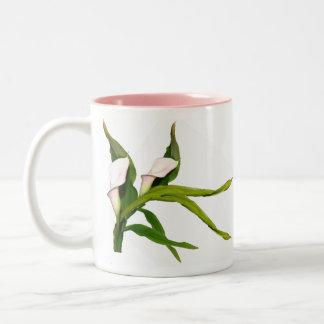 Palest Pink Calla Lilies Mug