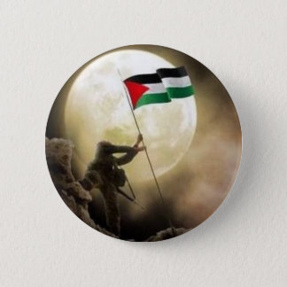 palestine 6 cm round badge