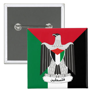 palestine coat of arms 15 cm square badge