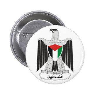 palestine coat of arms 6 cm round badge