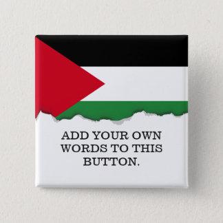 Palestine Flag 15 Cm Square Badge