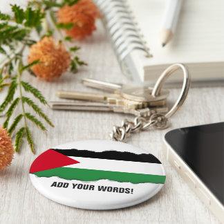 Palestine Flag Basic Round Button Key Ring