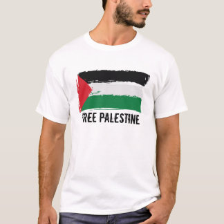 Palestine Flag Brush Art - Free Palestine T-Shirt