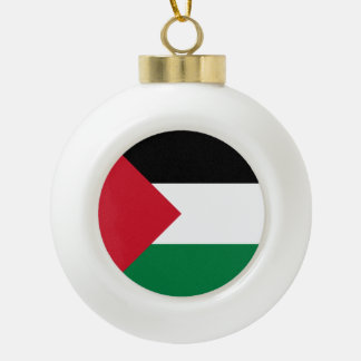 Palestine Flag Ceramic Ball Christmas Ornament
