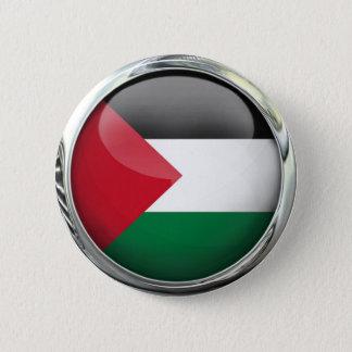 Palestine Flag Glass Ball 6 Cm Round Badge