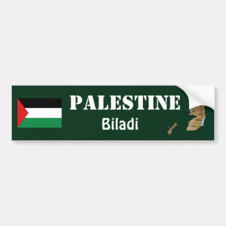 Palestine Flag + Map Bumper Sticker
