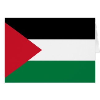 Palestine Flag Note Card