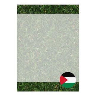 Palestine Flag on Grass 13 Cm X 18 Cm Invitation Card