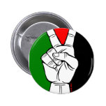 PALESTINE FLAG PEACE SIGN 6 CM ROUND BADGE
