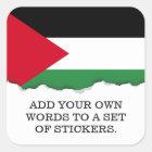 Palestine Flag Square Sticker