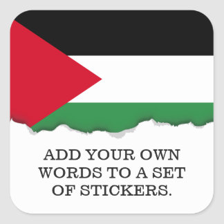 Palestine Flag Square Sticker