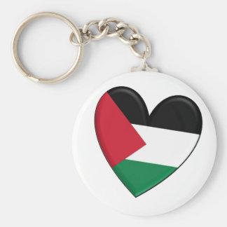Palestine Heart Flag Keychains