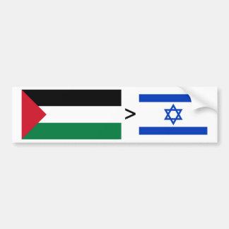 Palestine > Israel Car Bumper Sticker