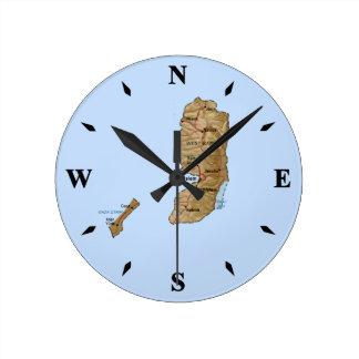 Palestine Map Clock