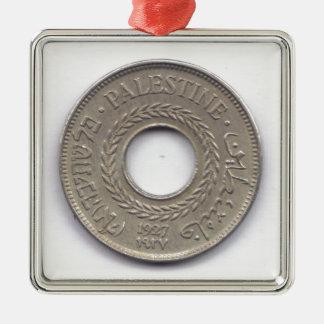 Palestine National Pride Coin Collection Silver-Colored Square Decoration